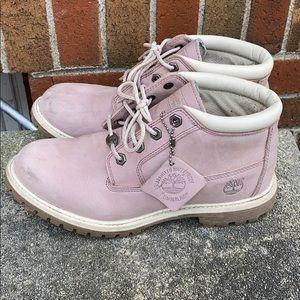 Timberland light pink boots